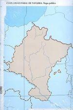 Paq/50 mapas navarra politico mudos. ENVÍO URGENTE (ESPAÑA)