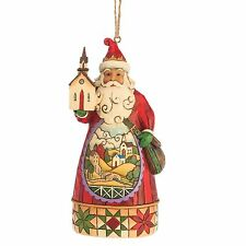 Heartwood Creek Santa with Church Scene Hanging Figurine  by Jim Shore