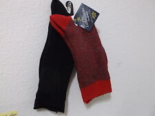 NEW FADED GLORY LADY'S 2 PAIRS of BOOT SOCKS  RED/RED & BLACK .SZ.(4-10)..#2