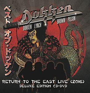 DOKKEN  RETURN TO THE EAST LIVE 2016  cd w/ dvd    DELUXE