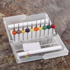10x PCB Print Circuit Board Carbide Micro Drill 0.3mm to 1.2mm Bits Tools + Box