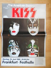 KISS 1980 orig. Concert-Tour Poster, Welle mittig, slight WAVE middle