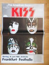 KISS 1980 orig. Concert-Tour Poster, Welle mittig, slight WAVE middle