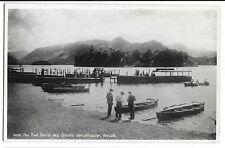 The Boat Station & Catbells Derwentwater RP PPC, 1953 Keswick PMK, GP Abraham