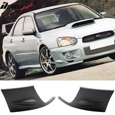 Fits 04-05 Subaru Impreza WRX 2PCS Front Side Bumper Lip Cover Cap
