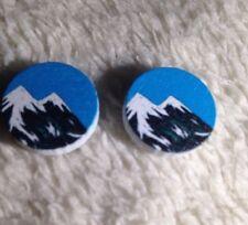 Sky Earrings - Climbers, Outdoors Twin Peaks Double Mountain & Blue