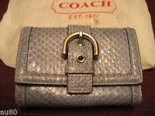 COACH Snakeskin mini wallet blue S6A10 NWT+receipt  RARE!