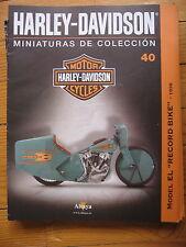 FASCICULE 40  MOTO COLECCION HARLEY DAVIDSON MODEL EL RECORD BIKE 1936