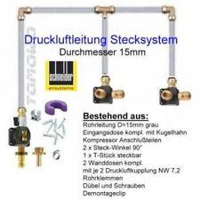 Druckluftrohr Werkstatt-Set 25 mtr 15mm Rohr grau für ca 600ltr