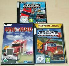 3 PC SPIELE SAMMLUNG 18 WHEELS OF STEEL EXTREME TRUCKER 1 2 KING OF THE ROAD