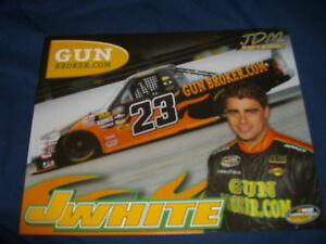 2011 JASON WHITE #23 GUN BROKER.COM NASCAR POSTCARD