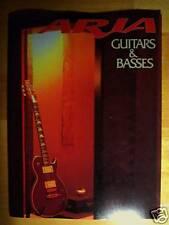 ARIA GUITAR CATALOG! MANDOLIN BANJO BASS JAZZ MAC PE 714 IGB UPRIGHT SP AW RARE!