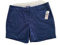 "Nautica City Shorts Flat Front 5"" Inseam Pockets Stretch Navy Women's Size 6 NWT"