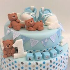 teddy bear cake toppers edible decoration personalised birthday baby shower