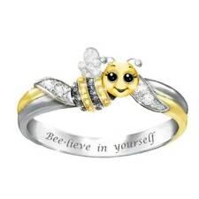 Cute Little Bee Rings Bee - lieve in yourself Ring Party Jewelry Women Kids Gift