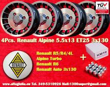 4 Cerchi+Dadi Renault R4 R5 Turbo Alpine 5.5x13 Wheels+Nuts Felgen+Radmuttern