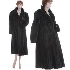 Mint! Large! Must-Have Deep Mahogany Female Mink Fur A-Line Coat