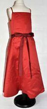 DORKAS Kleid für Blumenmädchen Hochzeit festlich Satin rot Gr. 110/116 (US 6)