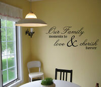 OUR FAMILY MOMENTS VINYL WALL DECAL VINYL LETTERING SAYING QUOTE STICKER HOME