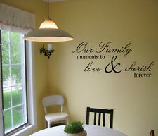 OUR FAMILY MOMENTS WALL DECAL VINYL LETTERING SAYING QUOTE STICKER