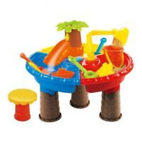 Beach Toys Table Set 22 pcs, Sand Water Beach, Palm tree Bulldozer and more!!