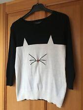 Size 8 Dorothy Perkins cat jumper
