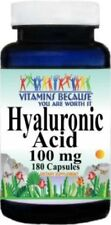 Hyaluronic Acid 100mg 180 Caps Supports Joint Health Made In USA / CGMP Approved