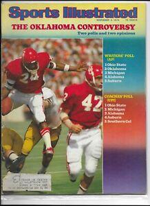 Sports Illustrated November 4 1974 The Oklahoma Controversy NM