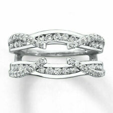 Engagement Enhancer Wedding Wrap Ring 14K White Gold Finish 0.50Ct Diamond