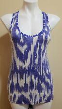 J Crew Purple Textured Print Sequins Scoop Neck Sleeveless Cotton Blouse Size XS