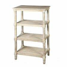 Shelf,Wood Whatnot in Country House Style with 4 Soils,Retro Shelf Shabby White