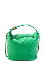 Chanel 19 pequeños verano 2020 Piel De Cordero Oro Metal Hobo Bolso de mano verde