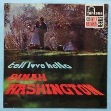 DINAH WASHINGTON ~ TELL LOVE HELLO ~ 1968 UK 12-TRACK STEREO LP RECORD