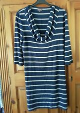 Phase Eight  Stripe Tunic Dress, Navy And grey 12