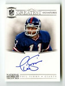 2012 Phil Simms National Treasures Super Bowl Auto /25 Greatest Signatures MINT