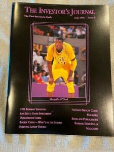 Shaquille O'neal The Investors Journal PURPLE Cover w/ Cards RC + Jordan 07/1992
