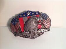 Harley Davidson  belt buckle 1989 official licenced-Ancienne boucle de ceinture
