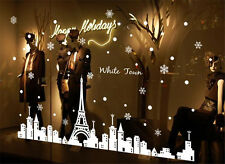White Paris Tower Home Room Decor Removable Wall Stickers Decal Decorations