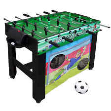 Playmaker 3-in-1 Foosball Multi-Game Table with Soccer and Hockey Practice Goals
