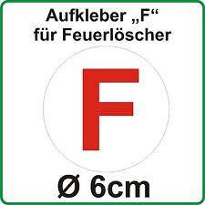 """Aufkleber """"F"""" für Feuerlöscher an NVA Trabi Stoffhund Kübel LO W50 Barkas"""