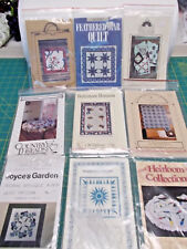 LOT OF 9 QUILT CRAFT PATTERNS -APPLIQUES, WALL QUILTS, TRADITIONAL FAVES