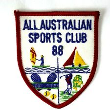 ALL AUSTRALIAN SPORTS CLUB 88 Woven Embroidered Sports Golf Sailing Tennis Badge