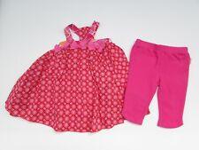 deux par deux Girls 18 mo Pink floral Tank Dress Knit Jeggings Pants KK1