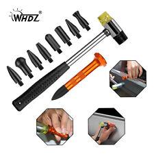 Car Boby Dent Repair PDR Tools Multi-Functional Tap Down Hammer & 9Heads Kit