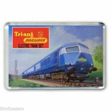 RETRO TRI-ANG ( TRIANG) HORNBY  TRAIN  BLUE PULLMAN SET JUMBO FRIDGE  MAGNET