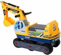Kids Ride-on Truck Toy Excavator Digger Scooter Construction Play w/ Helmet
