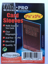 Ultra Pro Soft Sleeves for Standard Size Trading Cards CCGs (Packs of 100)