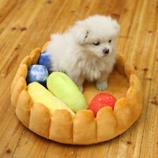 Cute Pet Dog Fruit Tart Bed Pad Keep Warm Kennel Cat Sleep Bed Mat Nest House
