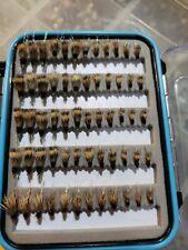 72 Low Profile Elk Hair Caddis In Fly Box - Trout Dry Flies - US Veteran Owned