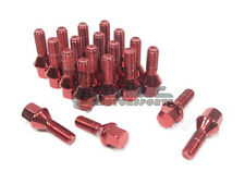 NNR Steel Conical Wheel Lug Bolts Red 28mm 14x1.25 20pcs BMW MINI Cooper